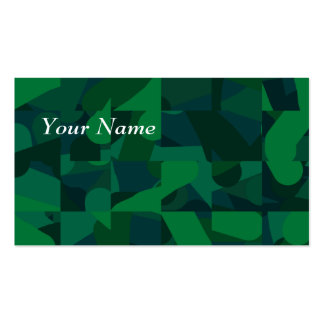 Green Abstract Pattern. Business Card Templates