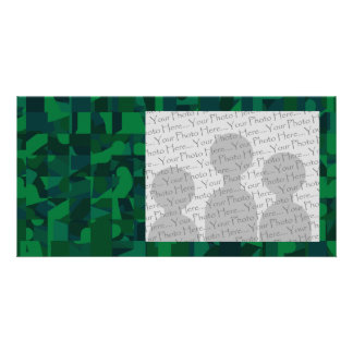 Green Abstract Pattern. Card