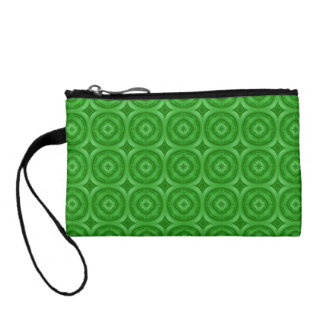 Green abstract pattern coin wallet