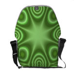 Green Abstract Pattern Courier Bag