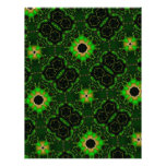 Green abstract pattern custom letterhead
