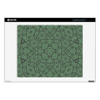 Green Abstract Pattern Decal For Laptop