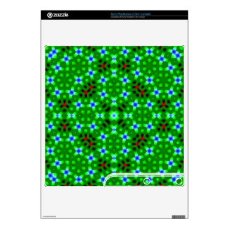 Green Abstract pattern Decal For PS3 Slim
