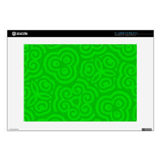 Green Abstract Pattern Decals For Laptops