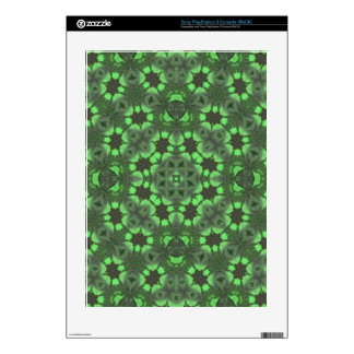 Green Abstract Pattern Decals For The PS3