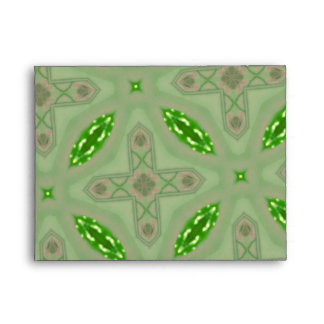 Green abstract pattern envelopes