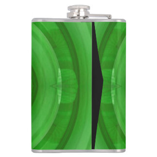 Green abstract pattern flask