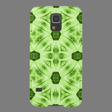 Green abstract pattern galaxy s5 cover