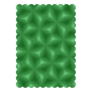 Green abstract pattern announcement
