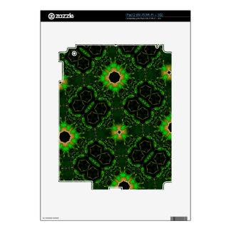 Green abstract pattern iPad 2 skins