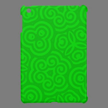 Green Abstract Pattern iPad Mini Cover