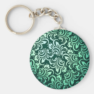 Green abstract pattern keychains