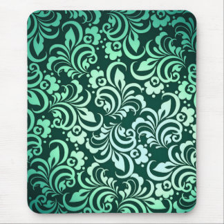 Green abstract pattern mouse pad