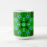 Green Abstract Pattern Mug