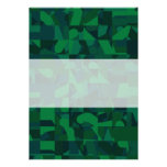 Green Abstract Pattern. Personalized Invites