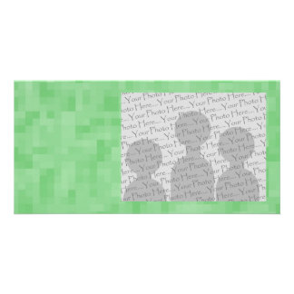 Green Abstract Pattern. Photo Card