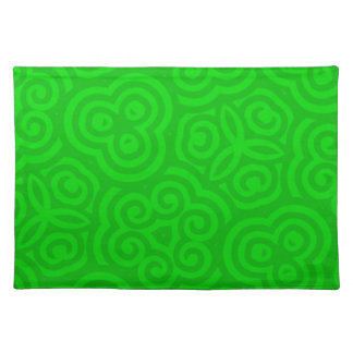 Green Abstract Pattern Place Mat