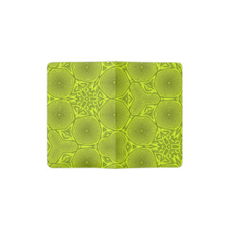 green abstract pattern pocket moleskine notebook cover with notebook