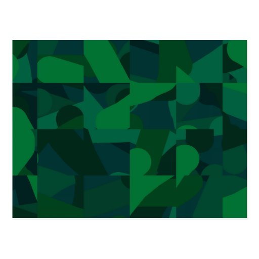 Green Abstract Pattern. Post Card