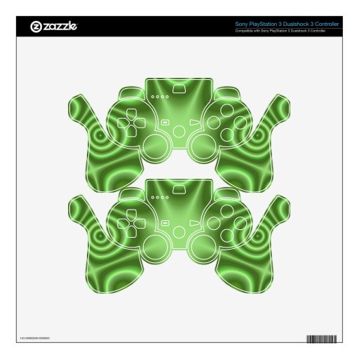 Green Abstract Pattern PS3 Controller Skin