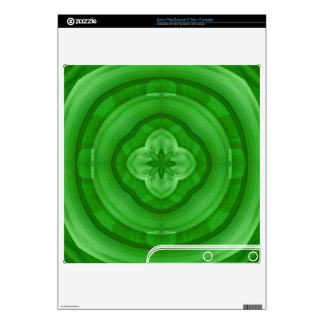 Green abstract pattern PS3 slim console decal