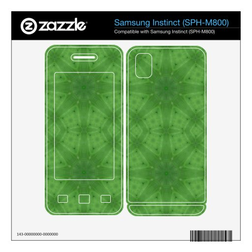 Green abstract pattern samsung instinct skins