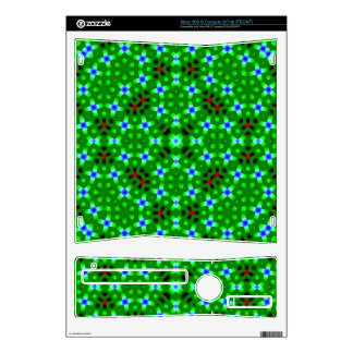 Green Abstract Pattern Skin For Xbox 360 S