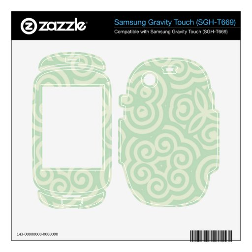 Green  Abstract Pattern Samsung Gravity Touch Skins