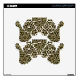 Green abstract pattern decal for PS3 controller