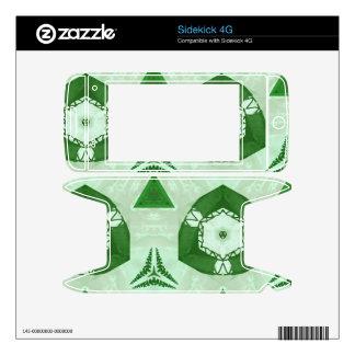 Green abstract pattern sidekick 4G decals