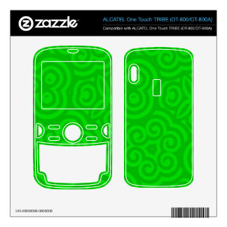 Green Abstract Pattern ALCATEL Tribe Skins