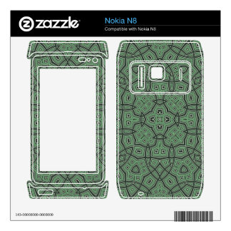 Green Abstract Pattern Nokia N8 Decal