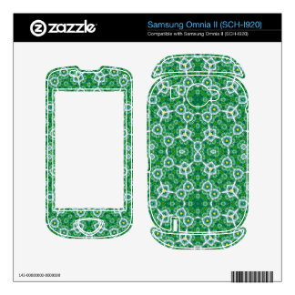 Green Abstract Pattern Samsung Omnia II Decals