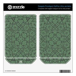 Green Abstract Pattern FreeAgent GoFlex Decals