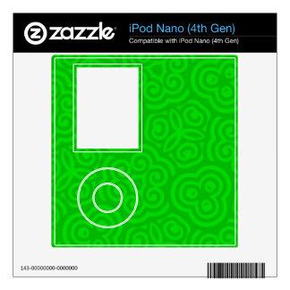 Green Abstract Pattern iPod Nano 4G Skins