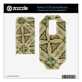 Green abstract pattern nokia 5130 skins