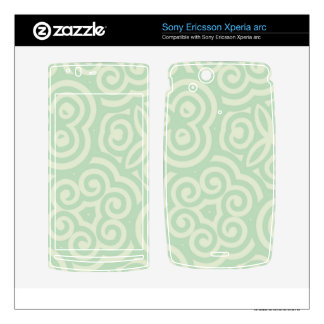 Green  Abstract Pattern Xperia Arc Skins
