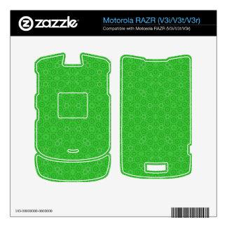 Green abstract pattern skins for motorola RAZR