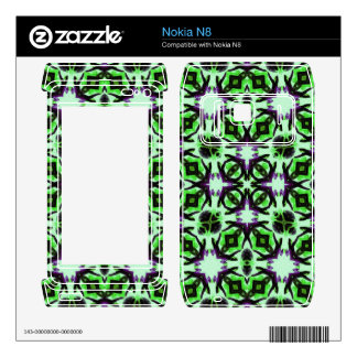 Green abstract Pattern Skin For The Nokia N8