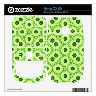 Green abstract pattern nokia c3-00 decal
