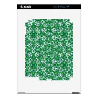 Green Abstract Pattern Skins For iPad 2