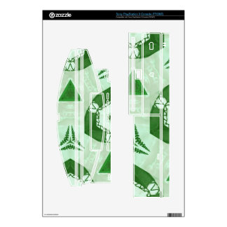 Green abstract pattern skins for the PS3