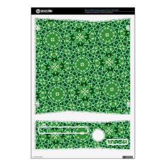 Green Abstract Pattern Skins For Xbox 360 S
