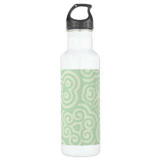 Green  Abstract Pattern Stainless Steel Water Bottle