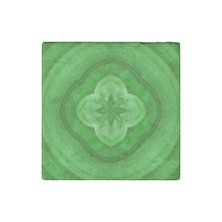 Green abstract pattern stone magnet
