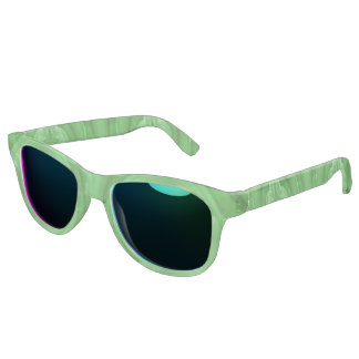 Green abstract pattern sunglasses