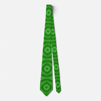Green abstract pattern tie