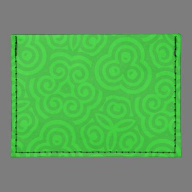 Green Abstract Pattern Tyvek® Card Wallet