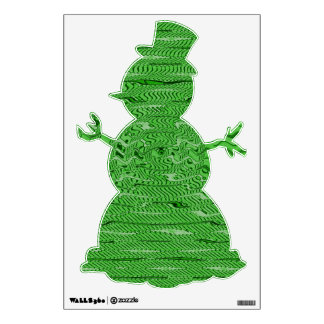 green abstract pattern wall sticker