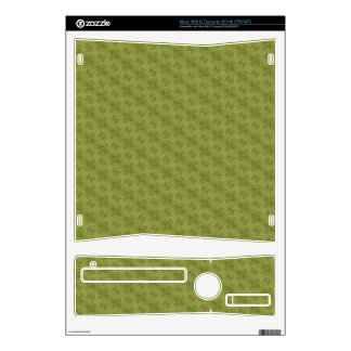 Green abstract pattern xbox 360 s skin